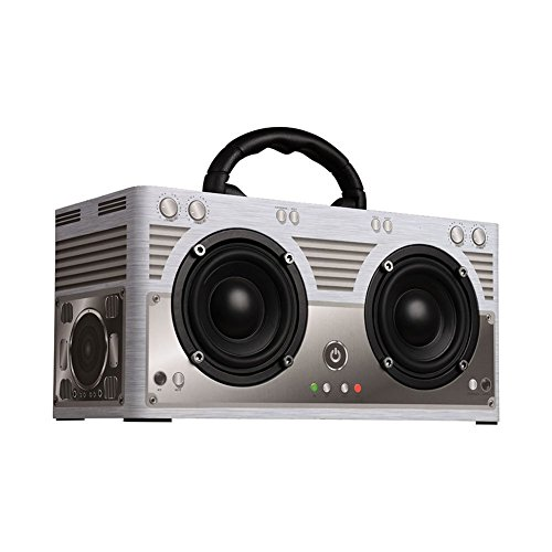 Wireless Bluetooth Speakers 20W Retro Double Bluetooth Sterco, Support TF Card and Aux Playback.