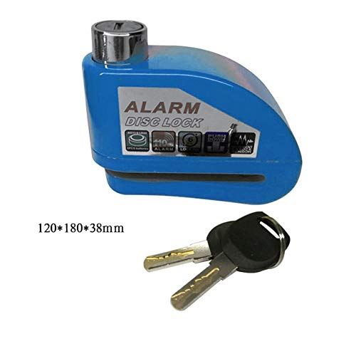 Best 1pcs Motorcycle Scooter Bicycle Disc Brake Lock Security Anti-theft Alarm Lock - (Color: Blue)
