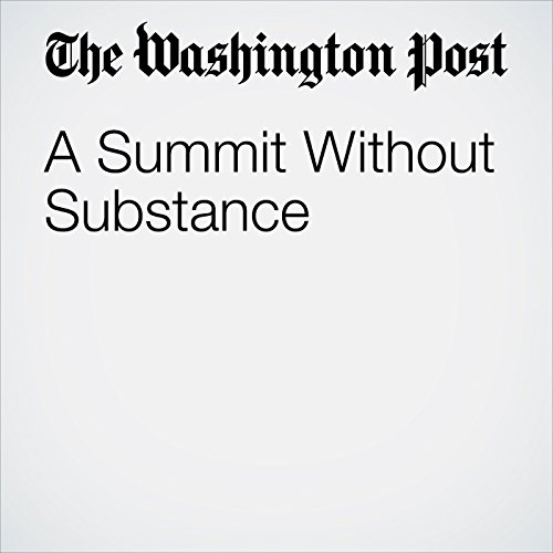 A Summit Without Substance copertina