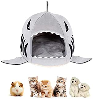 TIM dog bed cat bed Cat Shark Bed Dog Pet Washable Lovely Cave Puppy Comfortable House with Removable Cushion Waterproof B...