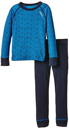 Odlo Enfant Garçon sous-vêtements Chauds Fonction Kids T-Shirt Manches Longues pour Femme Long 80 Directoire Blue - Navy New