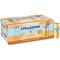 24 Pack S.Pellegrino Essenza Flavored Mineral Water 11.15 fl oz. Cans