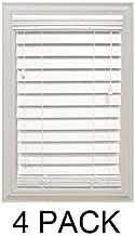 Home Decorators Collection White 2-1/2 in. Premium Faux Wood Blind - 23 in. W x 64 in. L (Actual Size is 22.5 in. W x 64 in. L) (4 Pack)