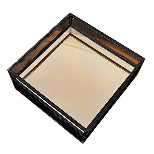 NAFE Metalen decoratieve lade, parfum tray, met zwart metalen handvat, trinket tray, sieraden tray, locker tray, taart dessert tray