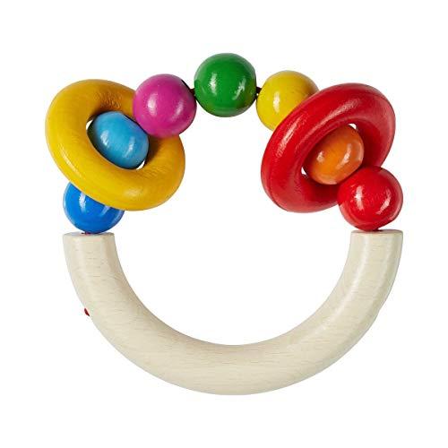 solini Le hochet Klick Klack jouet à saisir, naturel/multicolore