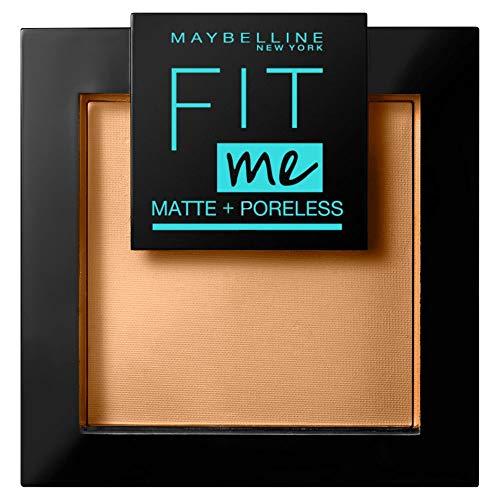 Maybelline New York FitMe Matt und Poreless Puder 350 Caramel, 1er Pack (1 x 9 g)