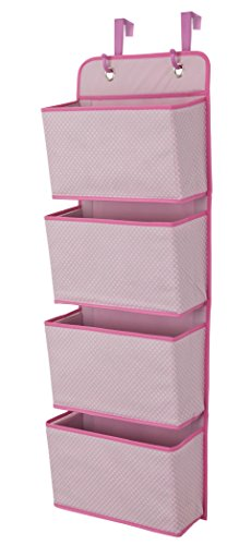 Delta Children 4 Pocket Over The Door Hanging Organizer, Barley Pink