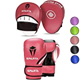 Boxing gloves and pads set Focus Punch Mitts MMA Training Sparring Hook