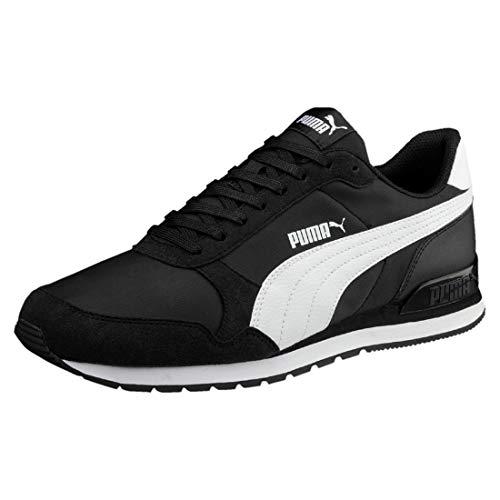 PUMA Unisex-Erwachsene St Runner V2 Nl Sneaker, Black White, 41 EU