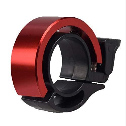 Sxspace 5X Fahrradklingel, Aluminiumlegierung O-Design Innovative Fahrrad Ring, klaren Sound Fahrradklingeln,ür Lenker von 22.2 bis 31.8mm (rot)