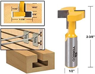Yonico 14188 1-1/16-Inch T Slot Router Bit 1/2-Inch Shank