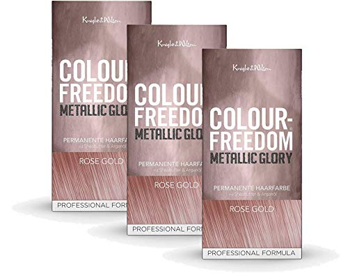 Colour-Freedom Metallic Glory Rosé Gold 3er Sparpack 2+1 permanente Haarfarbe | 3x 140ml