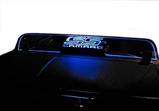 2011-2015 Chevrolet Camaro 5th Gen Convertible Wind Deflector - Control air flow, cut down backdraft, wind noise - GM Licensed - Easy Install, Secure Mounting - Laser-Etched Design - Option 2 - Blue