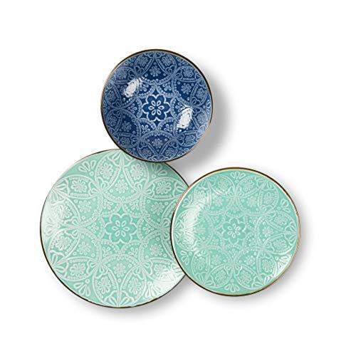 Excelsa - 63545 - Vajilla de 18 piezas Versailles azul