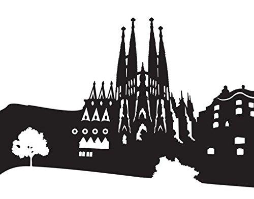 Vinilo décorativo para cristal no.MW112 Skyline Barcelona, Farbe:Frosted;Größe:100cm x 578cm