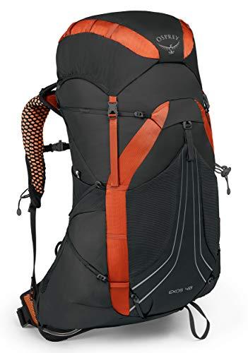 Osprey Exos 48 leichter Trekkingrucksack für Männer - Blaze Black (MD)