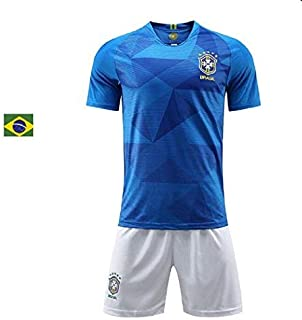 Sykdybz 2018 Football Jersey Brazil Away Adult Children And Teenagers Jersey Suit Training Team Uniform