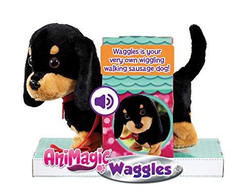 Animagic 'My Wiggling Walking Pup' Called Waggles, Interactive, Real Life Like Dog Toy Which Walks and Barks