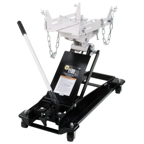 Fantastic Prices! Omega 41100C Black Low Profile Hydraulic Transmission Jack - 1100 lb. Capacity