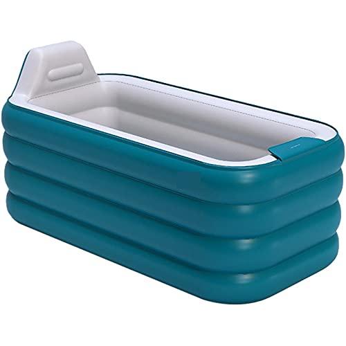 XBSXP Bañera SPA Plegable Premium para Adultos Bañera Inflable Portátil Ideal para Espacios Pequeños Respetuosa con El Medio Ambiente Y Duradera,Verde