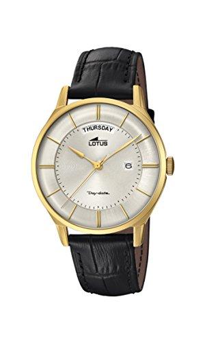 Lotus Watches Reloj Análogo clásico para Hombre de Cuarzo con Correa en Cuero 18421/1
