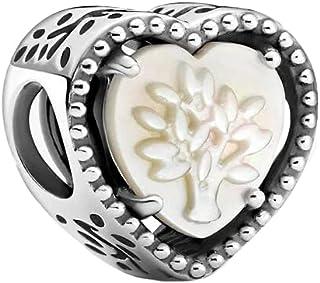 PANDORA Openwork Heart & Family Tree 925 Sterling Silver Charm - 799413C01