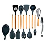 XIAOTING Silikon-Kochgeräte Set, Werkzeuge Turner Tongs spatel for Nonstick Hitzebeständige...