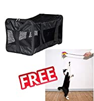 This handy travel carrier from Trixie is suitable for cats and small dogs.Iideal for trips to the vet or short car, bus and train journeys. The bag zips shut and can be opened on top or at one end. A solid plastic-coated base lining provides stabilit...
