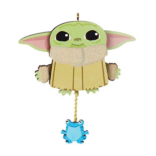 Hallmark Keepsake Christmas Ornament 2020, Star Wars: The Mandalorian The Child Bouncing Bounty Pull-String, Wood