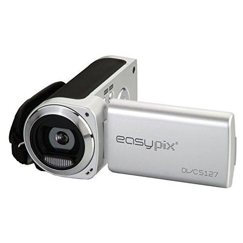 Easypix DVC 5127 Trip Camcorder (6,9 cm (2,7 Zoll) Display, Flash D1 720 x 480 Pixel) schwarz/Silber