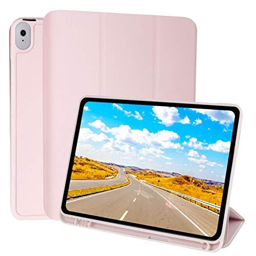 Xinstroe Schutzhülle für iPad Air 4 27,7 cm (10 Zoll) 2020, stoßfest, dreifach faltbar, Smart Case für iPad Air 4, unterstützt Apple Pencil Laden (Pink)