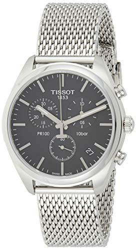 Tissot Herren-Uhren Analog Quarz One Size Milanaise Armband 87291081
