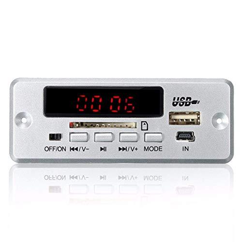 GYW-YW Tablero de Control 5pcs DC 12V / 5V MP3 Puede Ajustar el Volumen de Salida del Amplificador USB Junta Decode Junta LED AUX Bluetooth Radio FM Amplificador con Control Remoto Punto Steuermodul