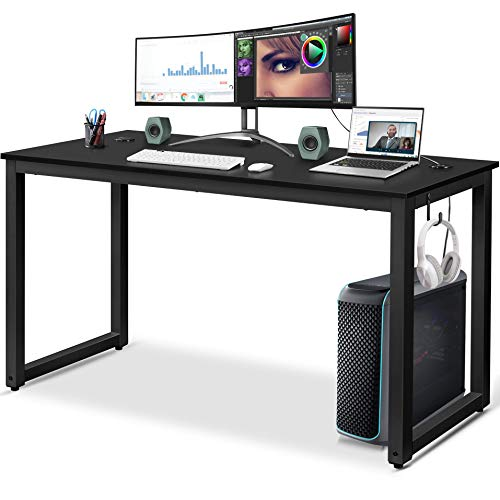 Yaheetech 55 inch Computer Desk with Headphone Hook Now $66.99