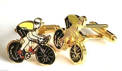 Tour De France - Cycle - Bike Enamel Cufflinks with free UK postage by Emblems-Gifts