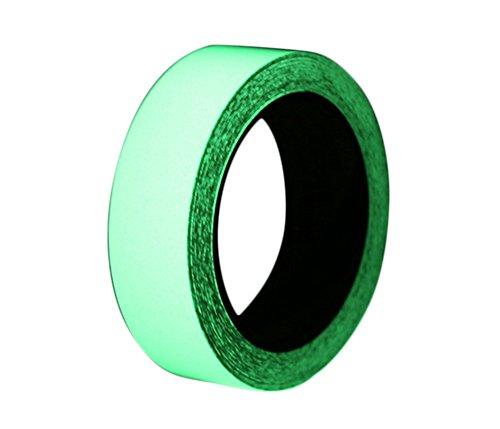 Chytaii leuchtende Warnband Luminous Klebeband PVC High-Brightness Fluoreszenzemission Leuchtband Selbstklebenden für Notevakuierung Straßenführung Notfall-Identifikation Grün