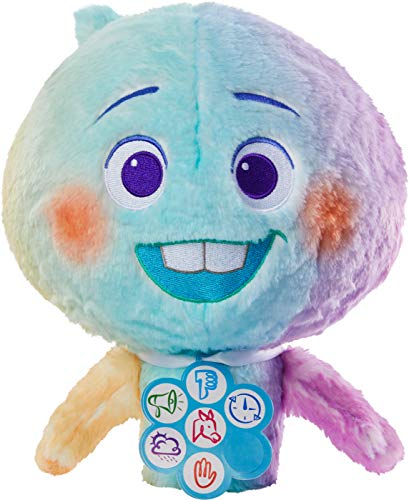 Mattel Disney and Pixar Soul 22 Feature Plush Doll Collectible with Lights and Sounds, 11-in Tall Huggable Stuffed Character Toy with Movie-Authentic Look, Collectors Gift