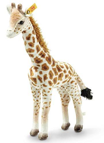 Steiff Magda Massai Giraffe, Original Plüschtier 26 cm, Wildtier Plüschgiraffe stehend, Kuscheltier für Kinder, National Geographic, zum Spielen & Kuscheln, waschbar, Stofftier gefleckt (024412)