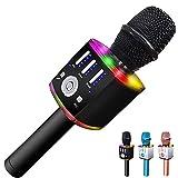 Wireless Bluetooth Karaoke Microphone for Kids, Portable Karaoke...