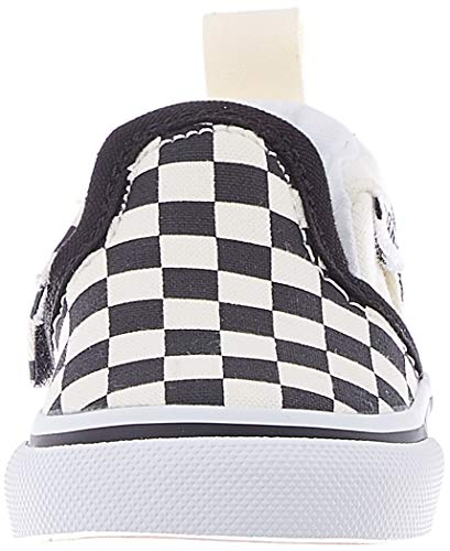 Vans Asher V Toddler, Sneaker Unisex per Bambini, Multicolore ((Checkers) Black/Natural IPD), 18 EU