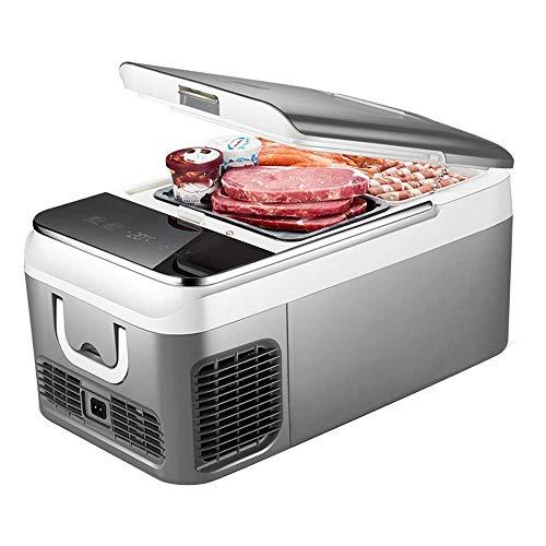 TUNBG draagbare compressor koelkast vrieskast, koeler 24 V / 12 V / 220-240 V (18l) Compact Refrigeration Mini Refrigerator | Eten & drinken wijn (maat: Autonu