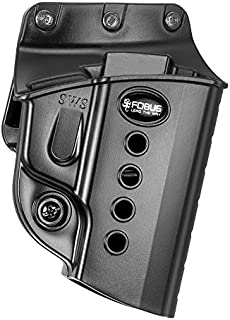 Fobus E2 Belt Holster, Fits Walther PPS/S&W Shield, Right Hand, Kydex, Black