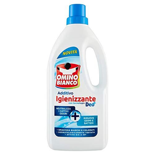 Omino Bianco Additivo Igienizzante Liquido per Bucato, Contro Batteri e Cattivi Odori, con Tecnologia Deo+, 900 ml