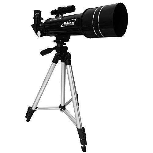 Orbinar Reise Teleskop Spektiv 400/70 + Rucksack + Smartphone Adapter DKA5