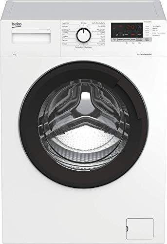 Beko WML81434NPS1 Waschmaschine/ Restzeitanzeige und Schleuderwahl/ Pet Hair Removal/ Nachlegefunktion/ Watersafe/ Energieklasse C