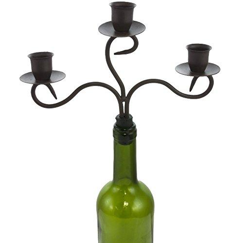 Chemin_de_Land Kerzenständer für Flaschen, 3 Kerzen, 23 x 23 cm