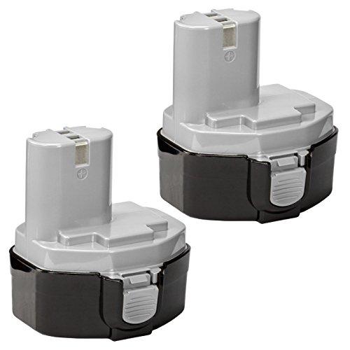 2 Pack ExpertPower 14.4v 3000mAh NiMh Extended Battery for Makita 1433 1434 1435 1435F 192699-A 193158-3