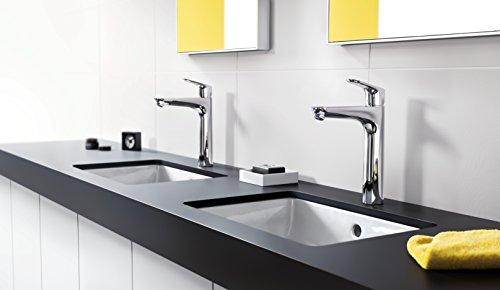 Hansgrohe – Waschtisch-Einhebelarmatur, ohne Ablaufgarnitur, QuickClean, EcoSmart, Chrom, Serie Focus 190 - 4