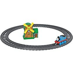 Includes die-cast metal Thomas, loop of track, windmill Train engine features plastic connectors to attach to other Push Along and Motorized TrackMaster engines, vehicles, cargo cars or tenders (sold separately and subject to availability) Highly ...
