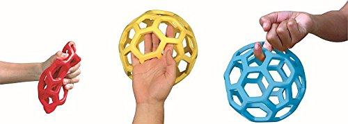 Grabball 1 St. , 10cm oder 21cm , RubberFlex, Netzball, Beissball, Flexibel, Flexi Gummiball, Bälle mit Netzstruktur (klein 10cm)